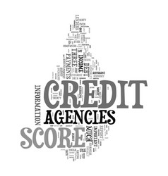 you credit score agencies and the tough economy vector image