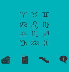 Zodiac icon flat vector