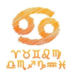 Zodiac Symbol Icons Isolated on White vector image