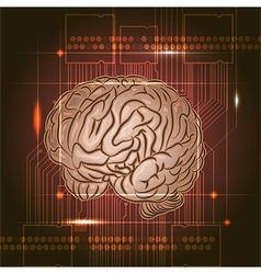 Brain board vector image