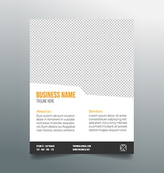 Business poster template - simple clean design vector image