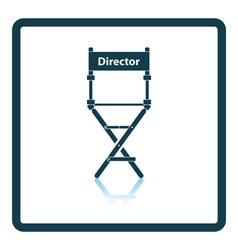 Director chair icon vector