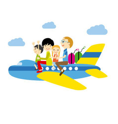 family traveling vector image