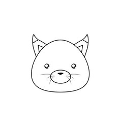 fox drawing face vector image