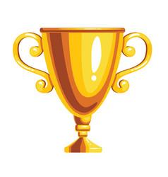 gold award cup vector image