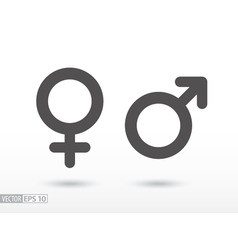 Man and woman - flat icon vector