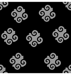 Spiral abstract gray seamless pattern vector image vector image
