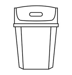 Big trashcan icon outline style vector