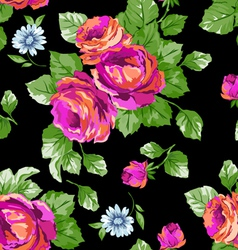 Bright Pink classic roses vector image vector image