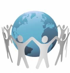 global people vector image