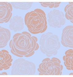 pattern with delicate roses vector image vector image