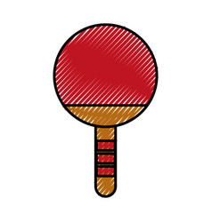 scribble ping pong racket vector image
