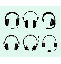 Set of headphones vector image vector image