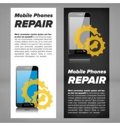 Smart phone repair banner vector image