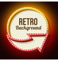 Volume retro sign with lights vector image