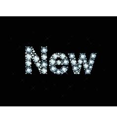 Diamond word new vector image vector image