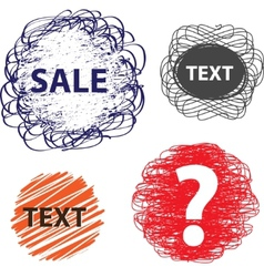 hand drawn speech and thought banners vector image