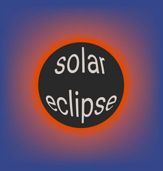 Total solar eclipse coronal glow of the sun vector
