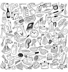 Cookery doodles vector