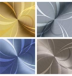 Metallic texture set vector image