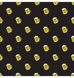 Simple bright beer mug seamless pattern vector image vector image