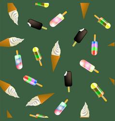 sweet ice cream pattern vector image vector image