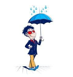 umbrella man vector image vector image