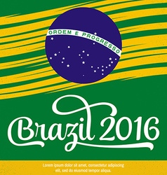 2016 Brazil Patriotic banner for website template vector image