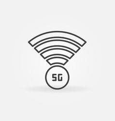 5g antenna concept outline icon in thin vector image