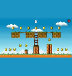 8 bit pixel art platformer game asset - original vector