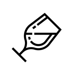 a glass wine wine line icon winery vector image
