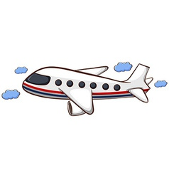 A sketch a plain travelling vector
