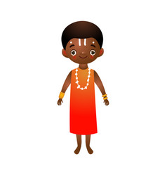 African man in traditional ethnic dress vector