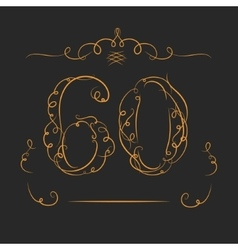 Anniversary 60th vector image