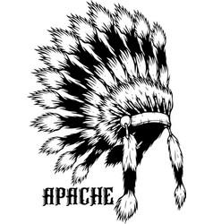apache logo vector image