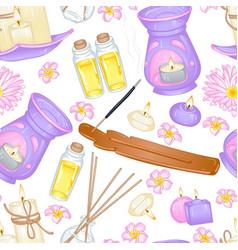 Aromatherapy pattern vector