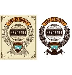 Baroque badge vector