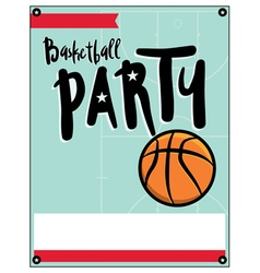Basketball party flyer vector