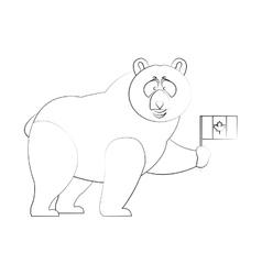 Bear cartoon icon vector