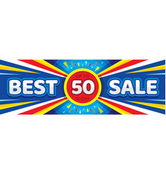 best sale - concept horizontal banner illus vector image