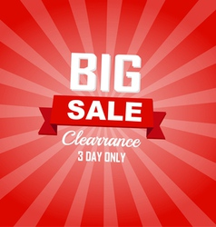 Big sale red color burst background vector image
