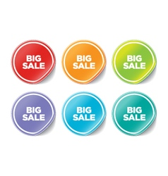 Big Sales Stickers vector image