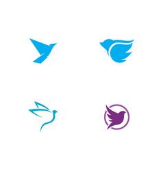 bird wing dove icon template vector image