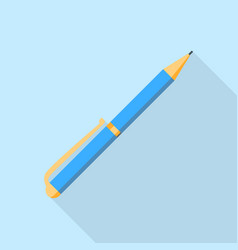 blue pen icon flat style vector image