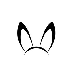 bunny ear icon design template isolated vector image