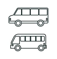 Bus icon set design vector