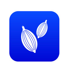 cardamom pods icon digital blue vector image