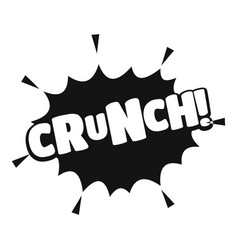 Comic boom crunch icon simple black style vector