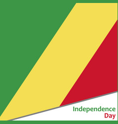 congo independence day vector image