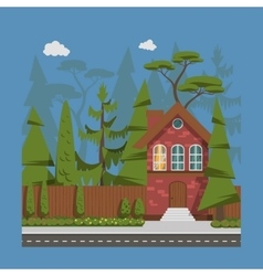 Country family house vector image vector image
